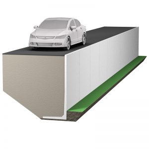 stödmur 5kN/m2 för lätt fordons- och trucktrafik, parkeringsplatser för personbilar m.m.