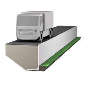 stödmur 10kN/m2 lämpar sig för medeltung fordons- och trucktrafik.