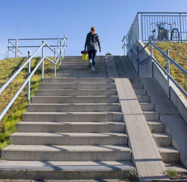 blocksteg för trappor